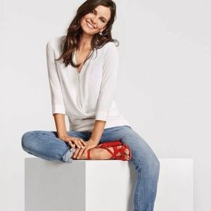 Cabi #5339 Indulge white blouse sz M